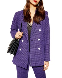 Topshop Boucle Double Breasted Blazer