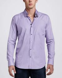 Bogosse Dries Mosaic Sport Shirt Purple