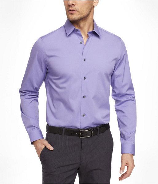 Modern fit 1mx stretch cotton shirt