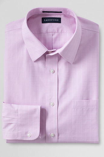 Lands 39 end regular traditional fit straight collar Straight collar dress shirt