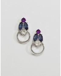 Asos Jewel Doorknocker Earrings