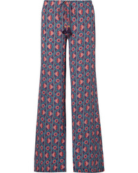 Figue Ipanema Printed Silk De Chine Wide Leg Pants