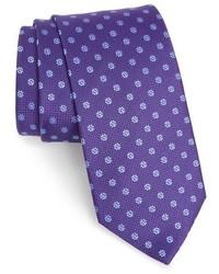 Violet Floral Tie