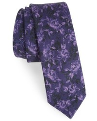 The Tie Bar Floral Wool Tie