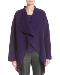 St. John Collection Double Face Wool Blend Drape Coat