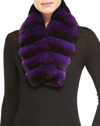 Gorski Chinchilla Fur Scarf Light Purple
