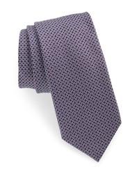 BOSS Geometric Circle Silk Tie