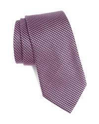 Emporio Armani Woven Geometric Silk Tie