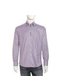 Bogosse Clau Plaid Sport Shirt Purple