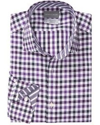 Thomas Dean Cotton Gingham Sport Shirt Long Sleeve