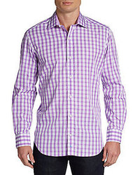 Tailorbyrd Zoomy Gingham Cotton Sportshirt