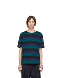 Missoni Purple And Black Striped T Shirt