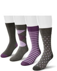 Van Heusen 4 Pk Crew Dress Socks