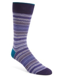 Bugatchi Diamond Stripe Socks
