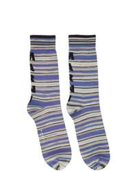 Marni Purple Striped Socks