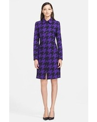 Houndstooth stretch wool coat medium 84265