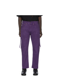Vyner Articles Purple Distressed Karate Jeans