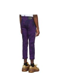 DSQUARED2 Purple Tie And Dye Ski Biker Jeans