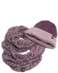 The North Face The Shinsky Knitting Club Boxed Infinity Scarf Beanie Grey