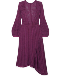 Chloé Ribbed Cotton Blend Midi Dress