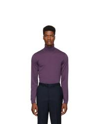 BOSS Purple Musso P Turtleneck