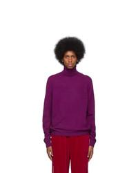 Gucci Purple Wool Cashmere Turtleneck