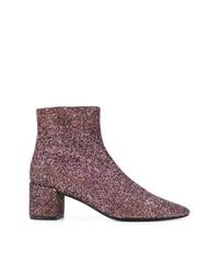 Saint Laurent Loulou 50 Glitter Ankle Boots