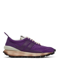 Lanvin Purple Bumper Sneakers