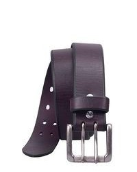 Violet Leather Belt