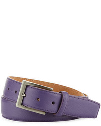 W.KLEINBERG W Kleinberg Pebbled Calfskin Leather Belt