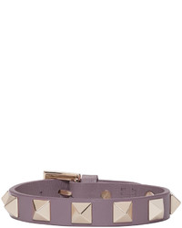 Valentino Purple Leather Rockstud Bracelet