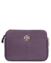 Tory Burch Ivy Leather Crossbody Bag Purple