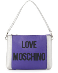 Love Moschino Pvcsaffiano Shoulder Bag Purple