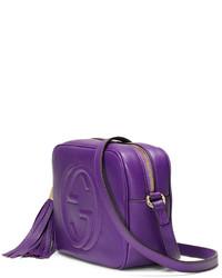 101eb38b4b7 ... Gucci Soho Small Camera Crossbody Bag Purple ...