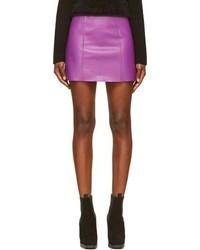 T by purple leather mini skirt medium 101624