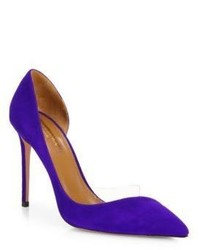 Aquazzura Eclipse Suede Dorsay Pumps