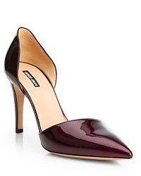 Giorgio Armani Patent Leather Dorsay Pumps