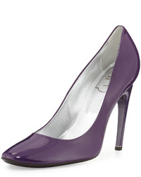 Roger Vivier Needle Choc Patent 100mm Pump Violet