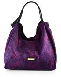 Jimmy Choo Cameleon Leather Trimmed Printed Nylon Tote