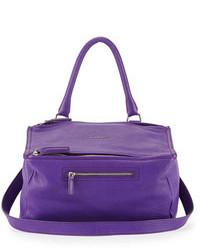 Givenchy Pandora Medium Leather Shoulder Bag Purple