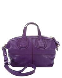 Givenchy Purple Leather Nightingale Convertible Mini Satchel