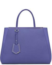 Fendi 2jours Medium Saffiano Tote Bag Purple