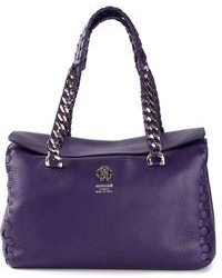 Roberto Cavalli Braided Handle Tote