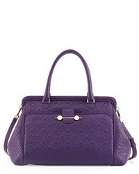 Jason Wu Oversized Quilted Frame Satchel Bag Violet