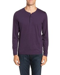 Violet Long Sleeve Henley Shirt