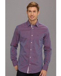 Moods of Norway Classic Fit Kristian Vik Purple Melange Shirt