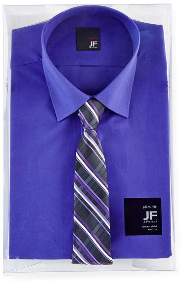 Jcpenney jf jferrar jf j ferrar slim fit shirt and tie box for J ferrar military shirt