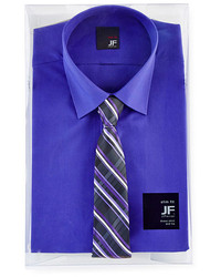 JF J.Ferrar Jf J Ferrar Slim Fit Shirt And Tie Box Set