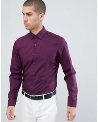 Calvin Klein Slim Fit Stretch Shirt Plum