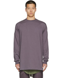 Rick Owens Purple Baseball Sweatshirt